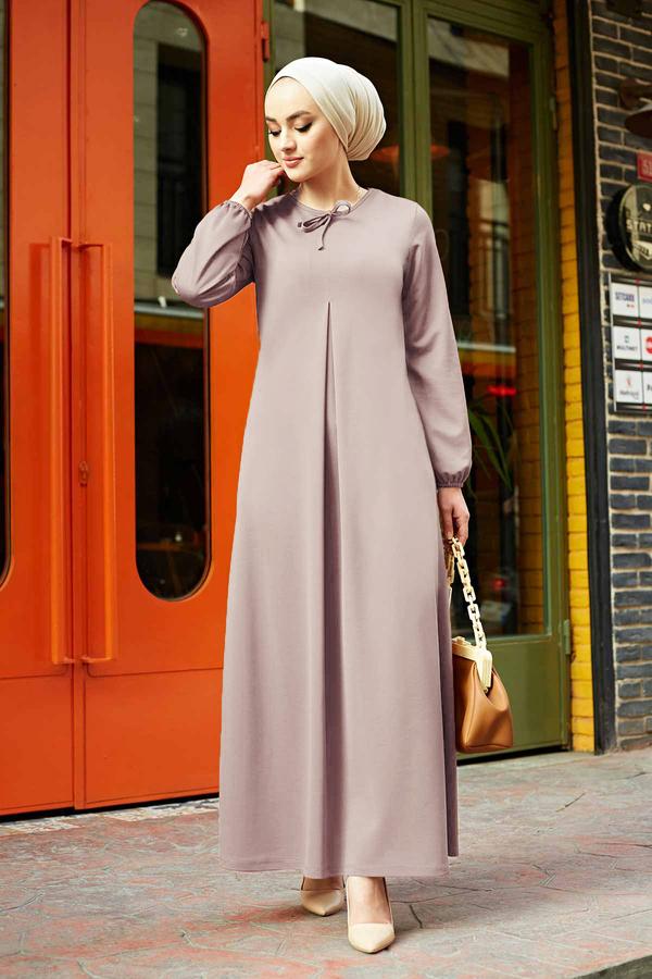 A Kesim Dikiş Detaylı Elbise 5656EN34500 Gri