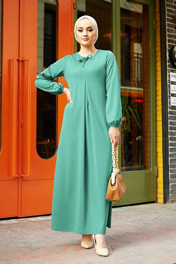 A Kesim Dikiş Detaylı Elbise 5656EN34500 Mint