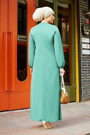 A Kesim Dikiş Detaylı Elbise 5656EN34500 Mint - Thumbnail