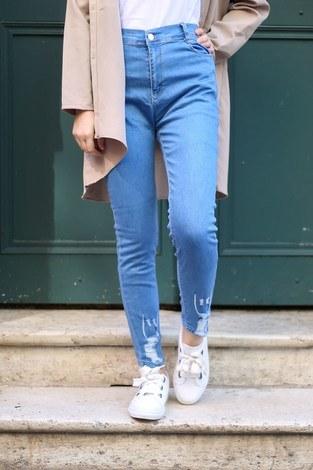 - Açık Mavi Kot Pantolon 1606-1