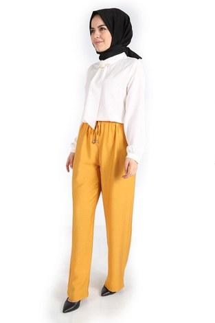 - Aerobin Bağcıklı Pantolon 60702-2 Sarı