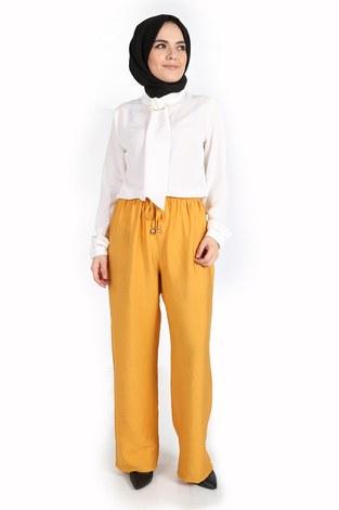 - Aerobin Bağcıklı Pantolon 60702-2 Sarı (1)