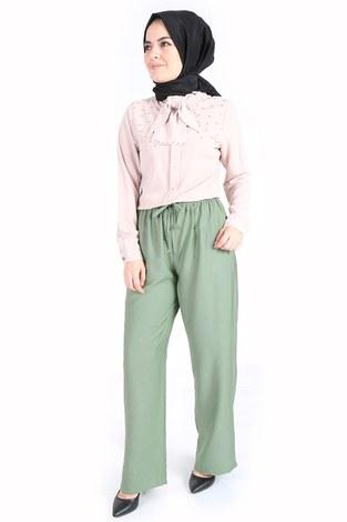 - Aerobin Bağcıklı Pantolon 60702-6 Mint