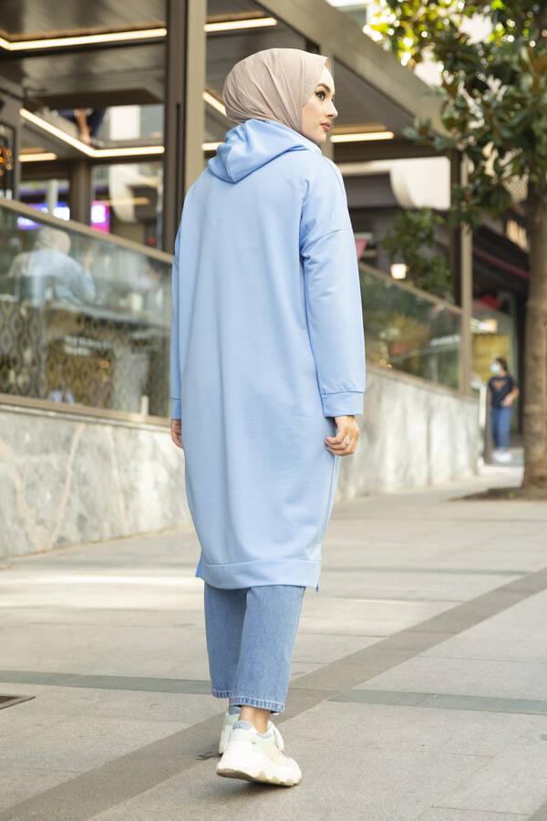 West Ara Boy Tesettür Tunik Mavi
