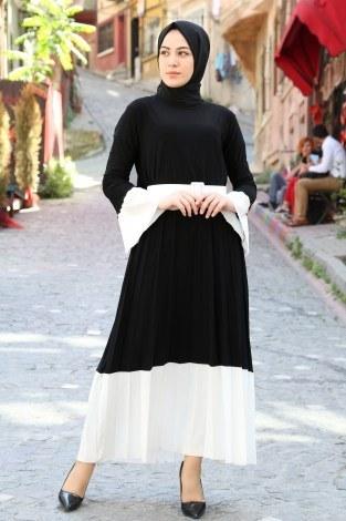 - Kemerli Pilise Elbise 8392-01