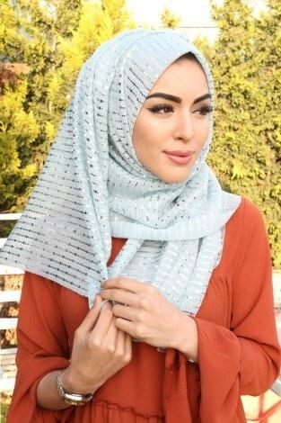 - ASM Payetli Simli Şal 5099-5