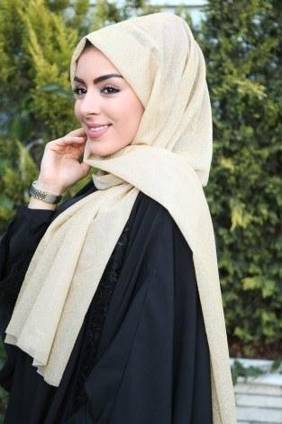 - ASM Simli Abiye Şal 5091-1