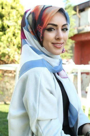 ASM Yazlık Fileli Pamuklu Eşarp Şal 5093-7 - Thumbnail