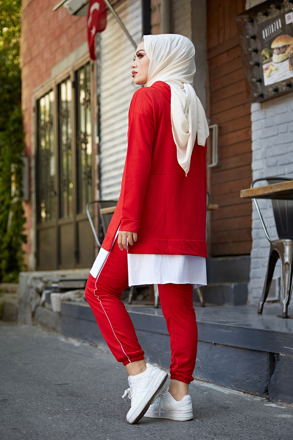 AVEN Always Spor Takım 3076-8 Kırmızı