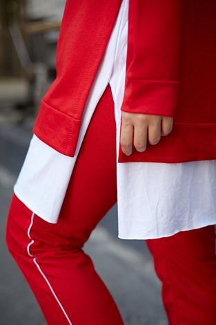 AVEN Always Spor Takım 3076-8 Kırmızı - Thumbnail
