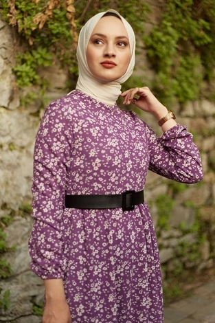 - AVEN Huvis Çıtır Elbise 1592-3 Lila (1)