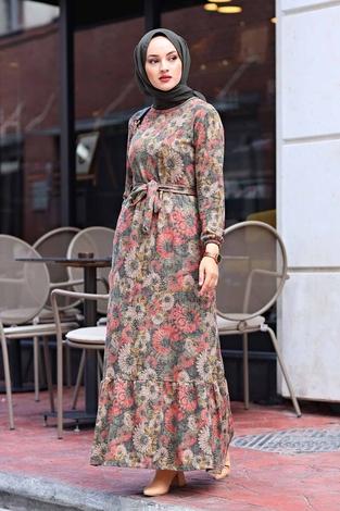 - AVEN Lazer Baskılı Elbise 1094-2