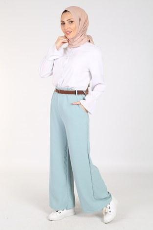 - Ayrobin Hasır Kemerli Pantolon 6090-4 Mint