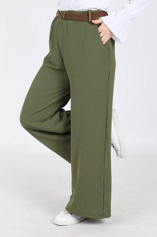 - Ayrobin Hasır Kemerli Pantolon 6090-7 Haki (1)