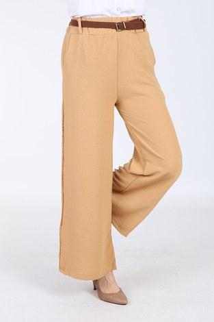 - Ayrobin Hasır Kemerli Pantolon 6090-9 Cappucino (1)