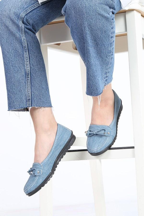 Bağcıklı Loafer Ayakkabı 6002-3 İndigo