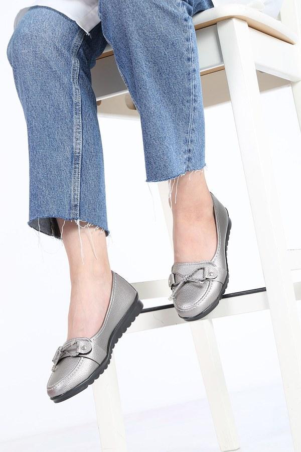 Bağcıklı Loafer Ayakkabı 6002-4 Gri