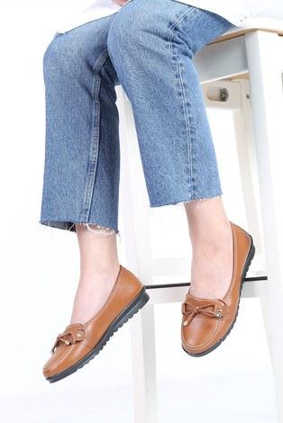 - Bağcıklı Loafer Ayakkabı 6002-5 Taba