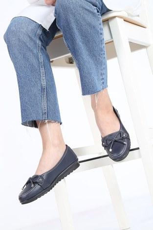 - Bağcıklı Loafer Ayakkabı 6002-6 Lacivert