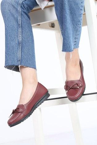 - Bağcıklı Loafer Ayakkabı 6002-7 Bordo