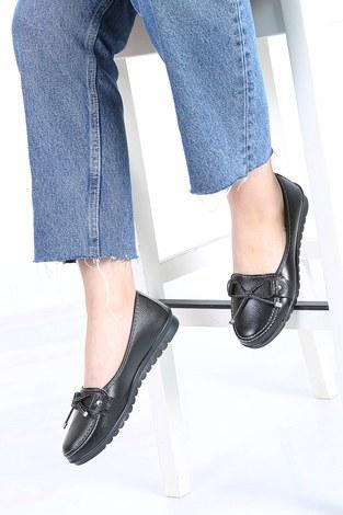 - Bağcıklı Loafer Ayakkabı 6002-8 Parlak Siyah