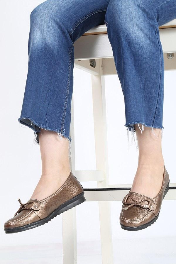 Bağcıklı Loafer Ayakkabı 6002-9 Gold