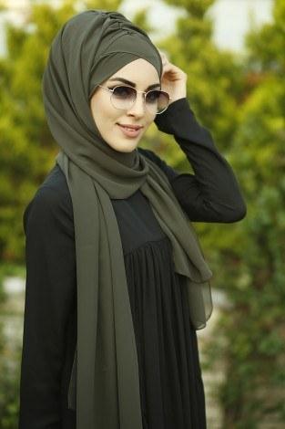 - Sade Bone Şal 40122-15 Haki (1)