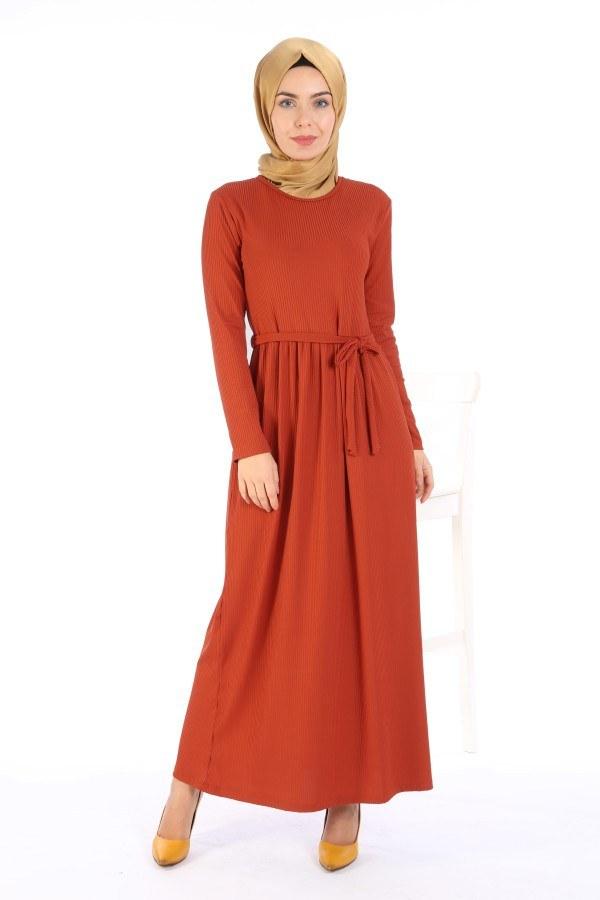 Belden Kuşaklı Elbise EL6981-02