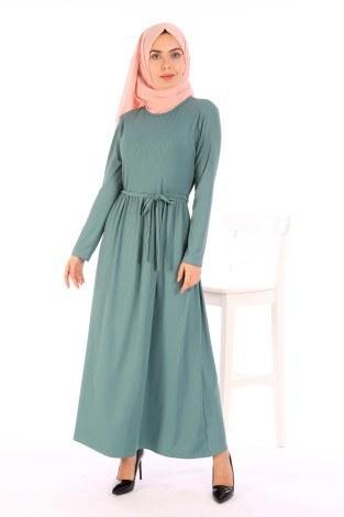 - Belden Kuşaklı Elbise EL6981-08