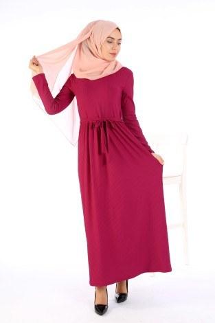 - Belden Kuşaklı Elbise EL6981-09