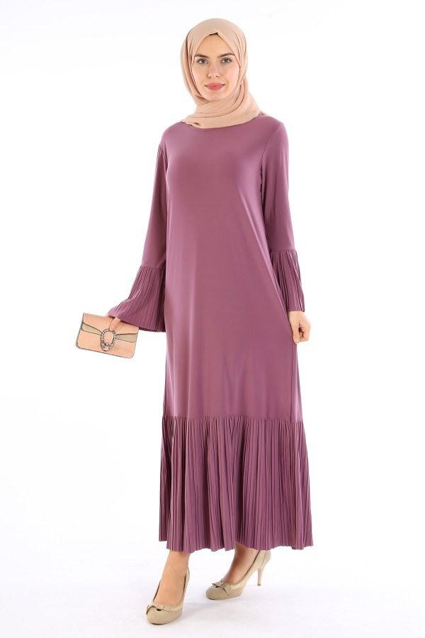 Pilise Detaylı Elbise 3670-01