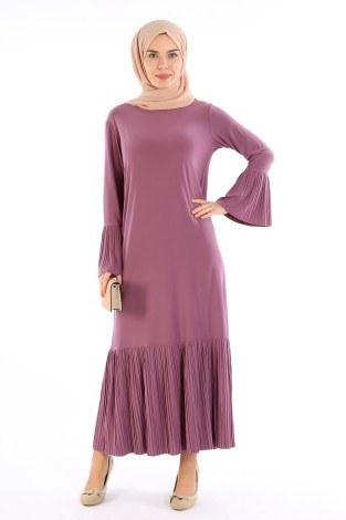 Pilise Detaylı Elbise 3670-01 - Thumbnail