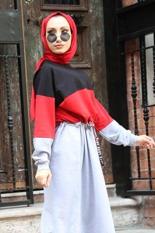 Beli Büzgülü Spor Elbise 2502-01 - Thumbnail