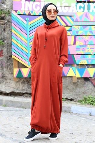 - Eteği Lastikli Spor Elbise 3109-15 taba