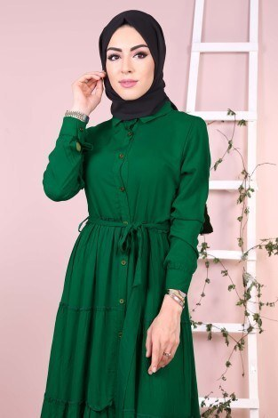 - Beli Kuşak Kemerli Gömlek Elbise 83340-6 (1)