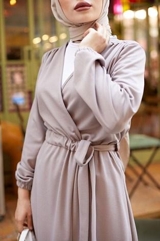 - Beli Kuşaklı Kimono 5587-14 Vizon (1)