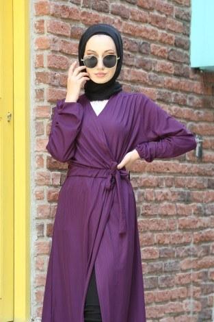 Beli Kuşaklı Kimono 7911-13 - Thumbnail