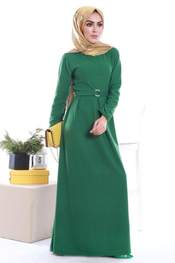 - Beli Kuşaklı Selanlik Örme Elbise 6355-05 (1)