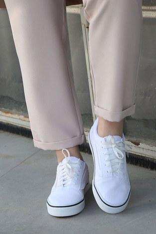 - Beyaz Spor Ayakkabı 6157-2