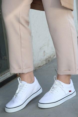 Beyaz Spor Ayakkabı 6157-2 - Thumbnail