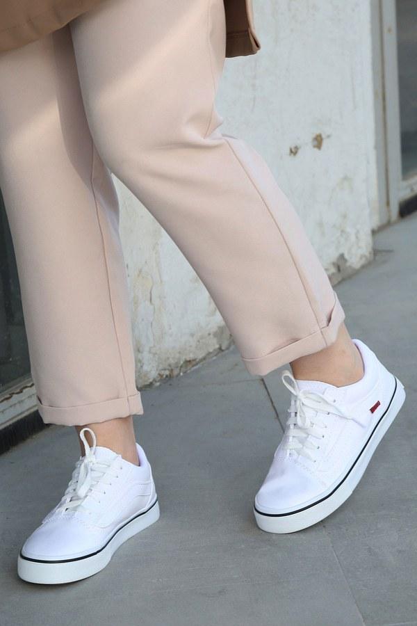 Beyaz Spor Ayakkabı 6157-2