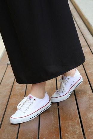 Beyaz Spor Ayakkabı 8001-1 - Thumbnail