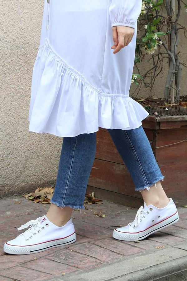 Beyaz Spor Ayakkabı 8001-1