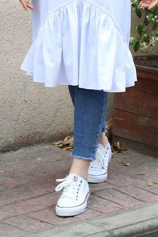 - Beyaz Spor Ayakkabı 8001-1