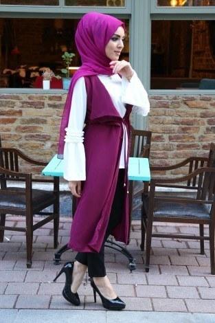 Bluz ve Yelek İkili Takım 9036-2 - Thumbnail