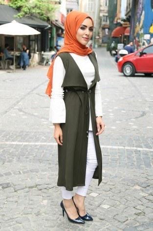 Bluz ve Yelek İkili Takım Elifnur 90366-1 - Thumbnail