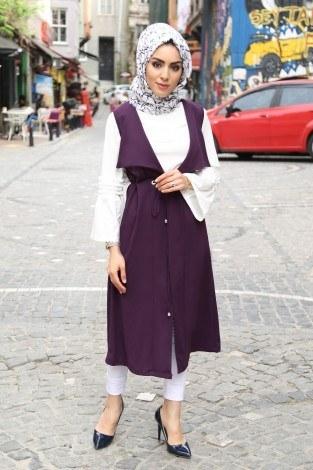 Bluz ve Yelek İkili Takım Elifnur 90366-2 - Thumbnail
