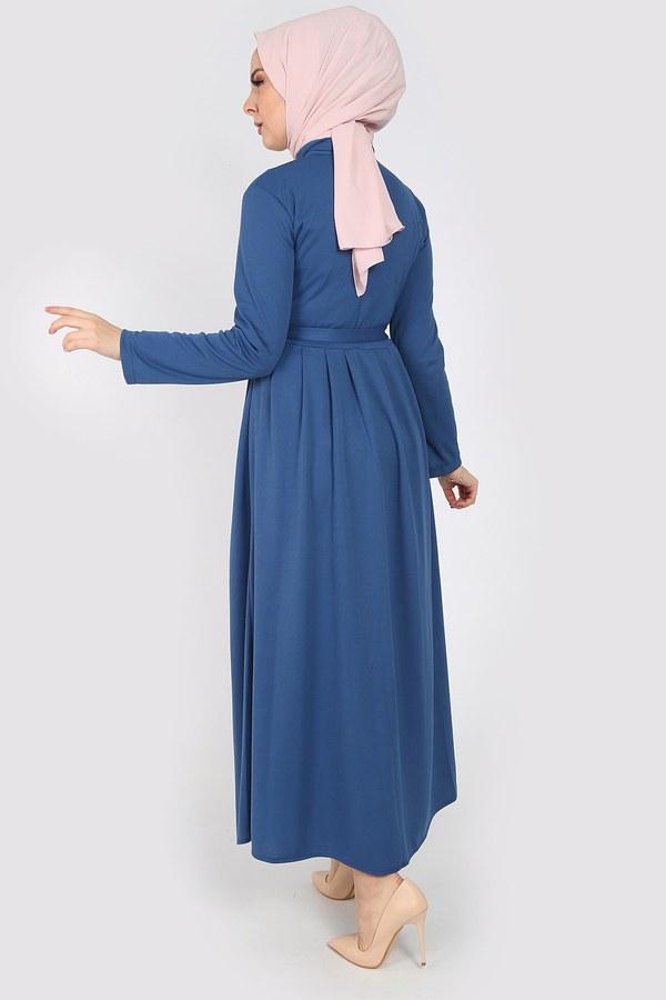 Boydan Düğmeli Elbise 87781-04