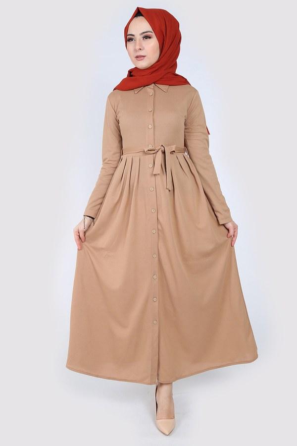 Boydan Düğmeli Elbise 87781-06