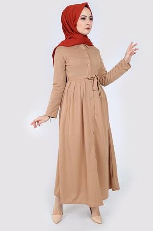 Boydan Düğmeli Elbise 87781-06 - Thumbnail